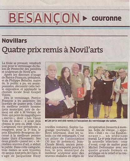 Article Est Novil'arts 2012