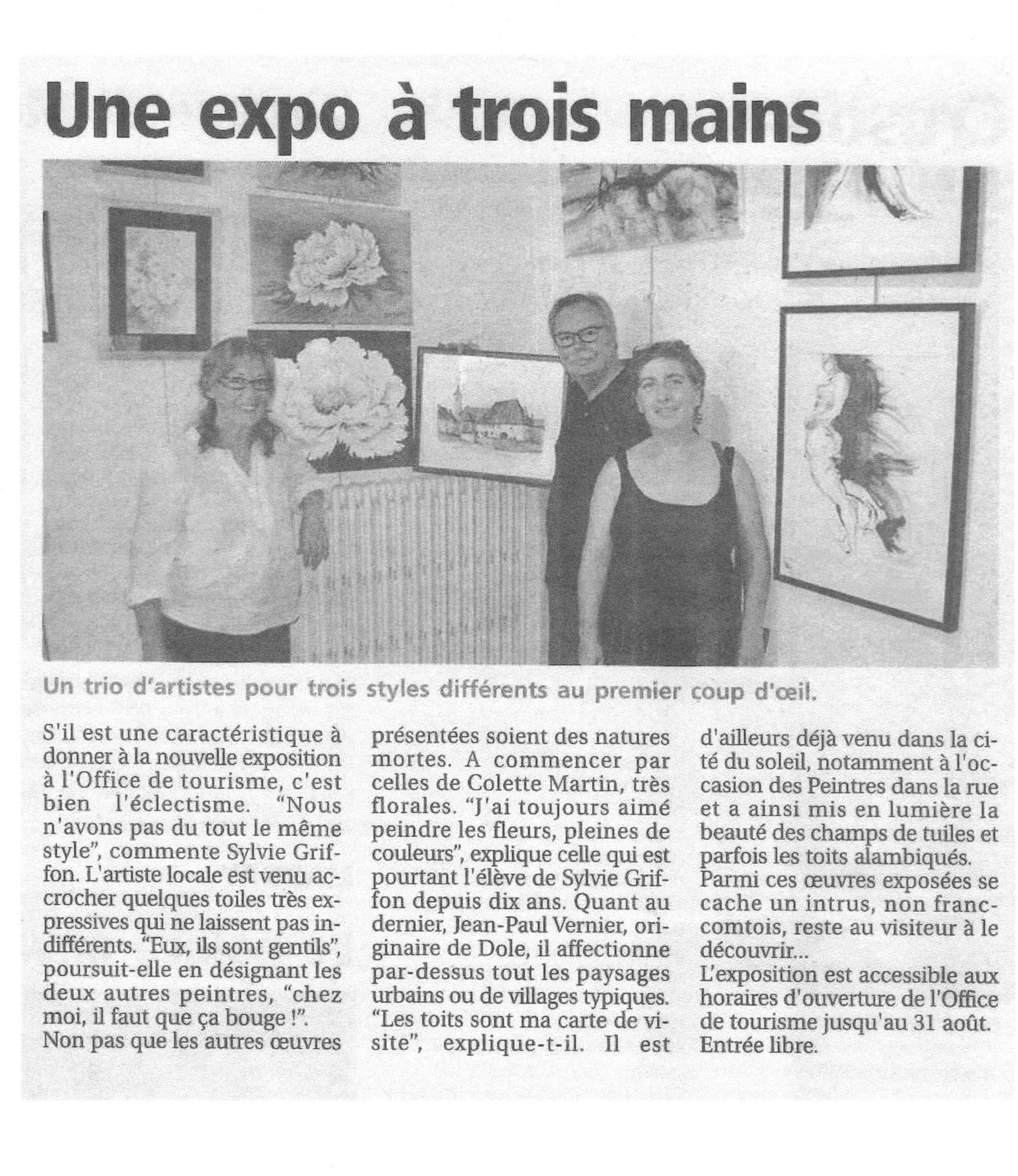 ARTICLE PRESSE DE GRAY EXPO OT 2014 001